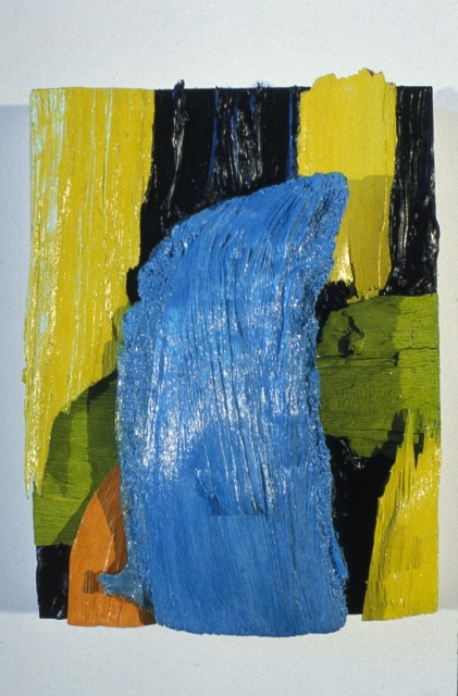 Xyloexpressionist Painting 1, oil and acrylic on wood panel, 2000
