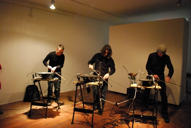 Speakers, 2010: still from performance at Forest City Gallery, March 2010.