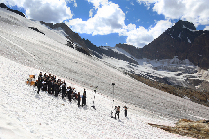 Requiem for a Glacier, Site Specific Performance at Farnham Glacier, July 2013.