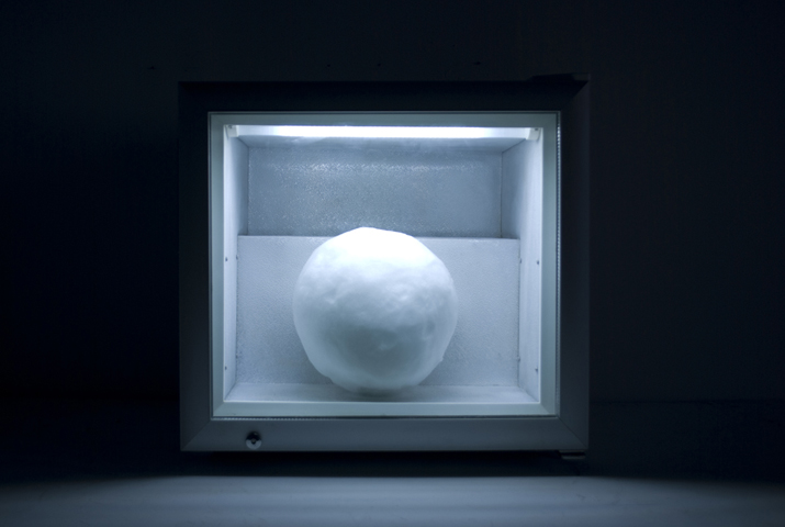A Snowball's Chance, 2011: snow, display freezer