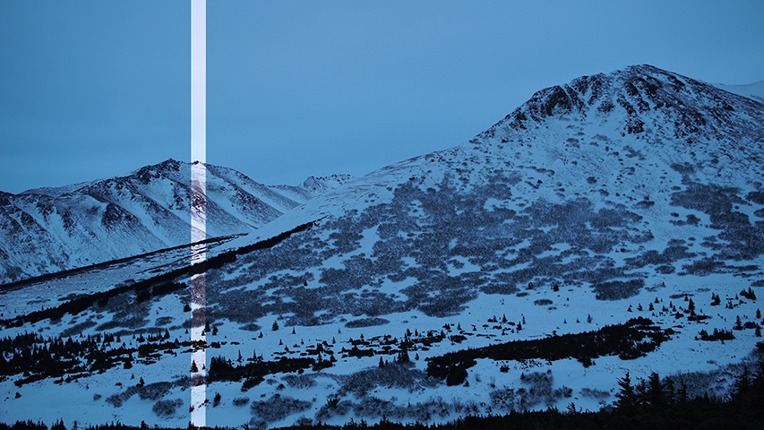 Glen Alps III still from 4K video source, 2016