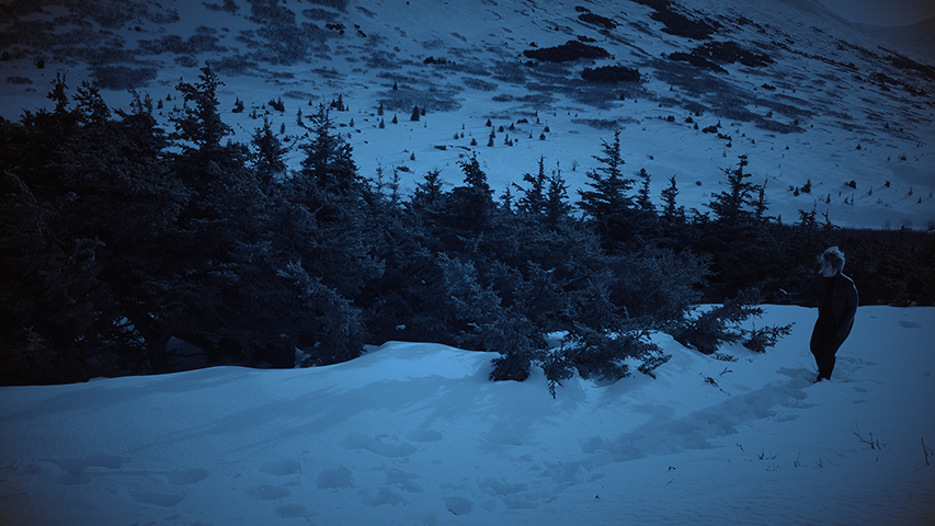 Glen Alps II still from 4K video source, 2016