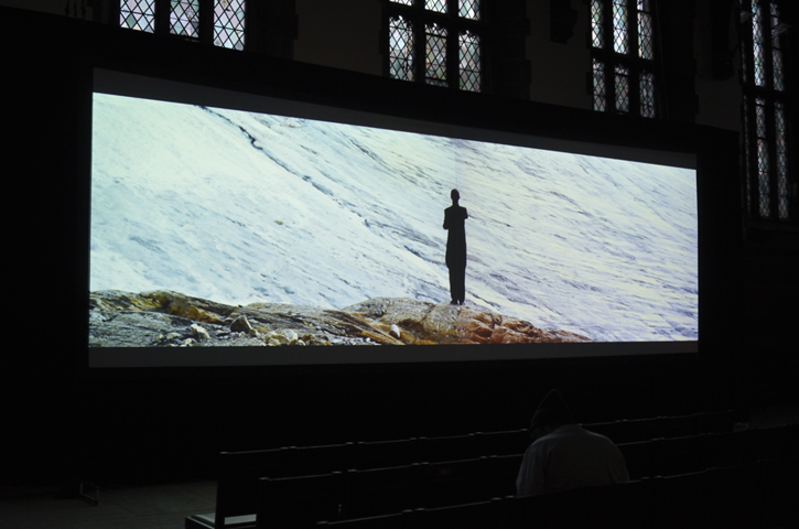 Requiem for a Glacier, installation view, at University of Toronto Art Centre
