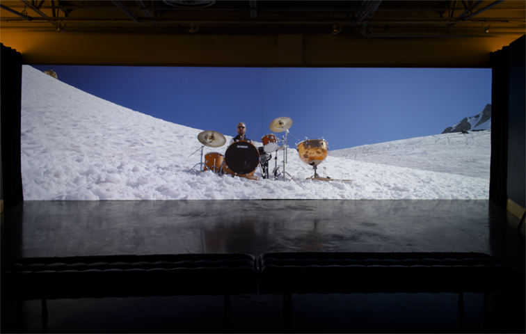 Requiem for a Glacier, installation view, at the Art Gallery at Evergreen, Coquitlam, BC