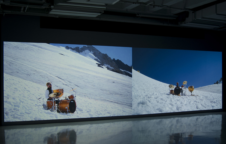 Requiem for a Glacier, installation view, at Galerie des Arts Visuels, Université Laval, Quebec City, Quebec