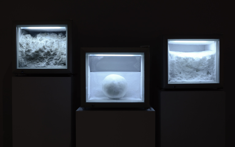 Snow works, installation view at Museum London as part of the exhibition Polar Shift, 2012.